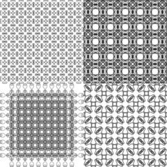 Set abstract vintage geometric wallpaper pattern background with