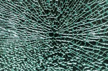 Broken glass on a black background.