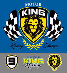 Motor lion racing graphic set