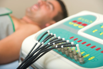 Man receiving an electro therapy