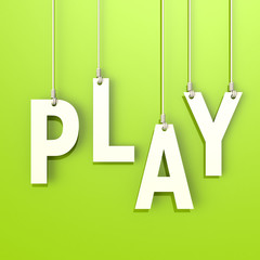 Play word in green background
