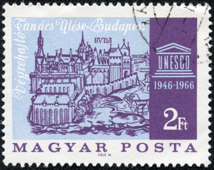 stamp printed in the Hungary shows Old View of Buda