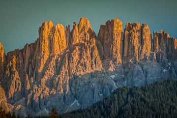 Dolomiti - Latemar at sunset light