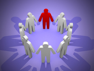 3d person teamwork