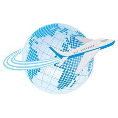 air plane around the earth