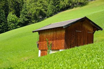 Hütte auf der Alm