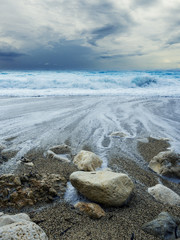 Storm seascape in the Ionian