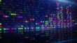 colorful digital equalizer loopable background