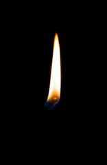 Beautiful Burning match on a black background