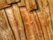 helle Holzlattenmauer...Hintergrund