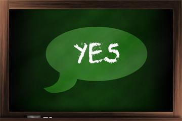 """Saying """"yes"""""""