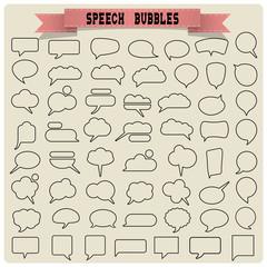 Big set of speech bubbles