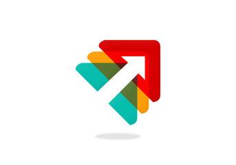arrow triangle design element business logo