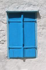 greek window at Symi island