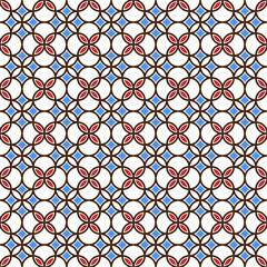 Colored seamless geometric pattern
