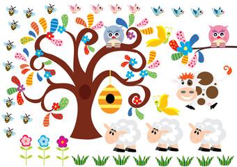 farma sowa drzewo