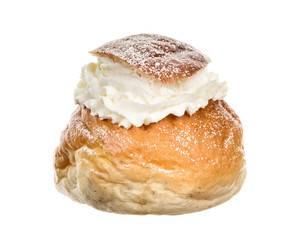 Typical Swedish Semla (cream bun)