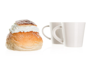 a typical Swedish Semla with two cups