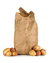 Paper bag with potatoes