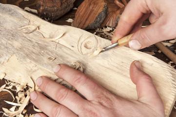 Wood sculpting