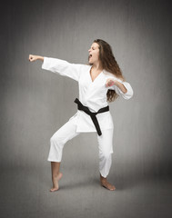martial art profile view for athlete
