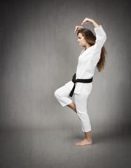 martial arts crazy attack pose