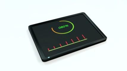 Percentage animated display on tablet