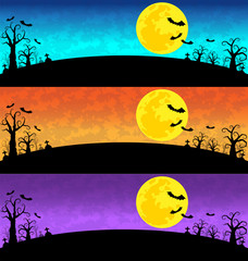 Halloween Background vector set