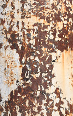 Rusty oncrete post - background and texture