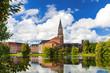 canvas print picture - Kiel am Kleinen Kiel mit Rathausturm und Opernhaus  3431