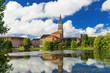 Kiel am Kleinen Kiel mit Rathausturm und Opernhaus  3428