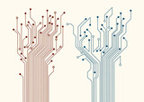 Two abstract circuit trees
