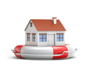 protection house with lifebuoy