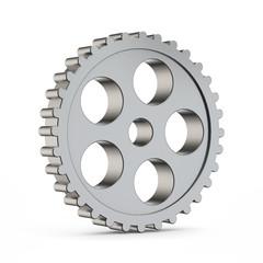 3d metal cog gear