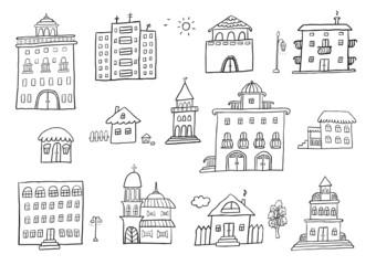 Hand Drawn Buildings