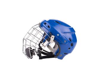 Blue hockey goalie mask.