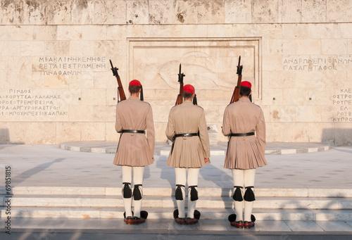Fotobehang Athene Evzones Athens, Greece