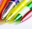 Leinwanddruck Bild - Bunte Kugelschreiber