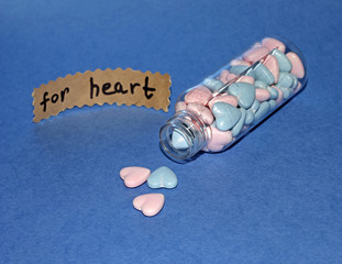 Bottle with tablets for heart disease