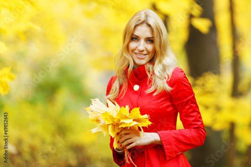 canvas print picture Autumn woman