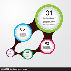Infographic design with circles