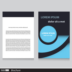 Vector business brochure template design with text