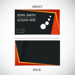 Vector business card with space for text