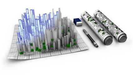 L'architecte permet d'ériger les édifices à partir de plans