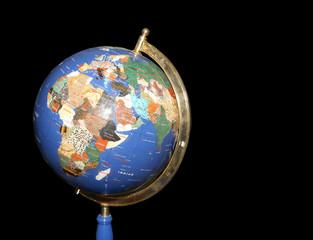 Old fashioned globe on on dark background