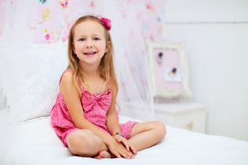 Little girl in her room