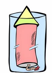 doodle firework rocket