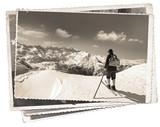 Fototapety Vintage photos with skier