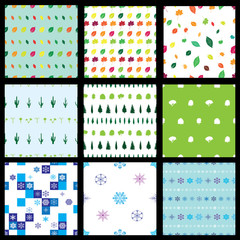 vector_seamless nature pattern