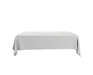 Blank tablecloth